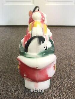 Vintage 1970 EMPIRE Santa Sleigh 2 Reindeer Lighted Blow Mold 25