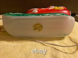 Vintage 1970 EMPIRE Santa Sleigh 2 Reindeer Lighted Blow Mold 25 Tabletop