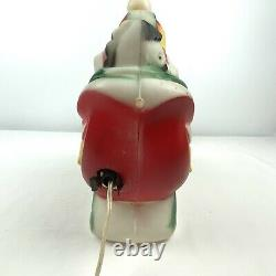 Vintage 1970 EMPIRE Santa's Sleigh and 2 Reindeer Lighted Blow Mold Table Top