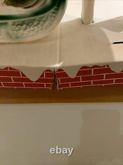 Vintage 24 Lidco Santa Sleigh Reindeer Blow Mold Set Display Xmas Christmas