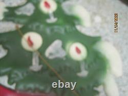 Vintage 4 pc Die Cut embossed cardboard Christmas Santa Sleigh Reindeer #30