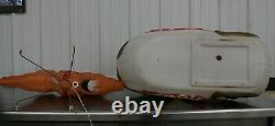 Vintage Empire Christmas Blow Mold Santa Sleigh & Reindeer Reigns Lighted Yard