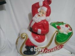 Vintage Empire Large Santa Claus in Sleigh Sled Christmas Blow Mold. No reindeer