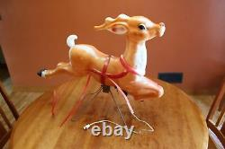Vintage Empire Lighted Blow Mold 24x13 Small Reindeer (x2) for Santa in Sleigh