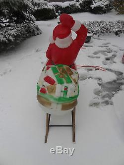 Vintage Empire Santa Claus Sleigh 2 Reindeer Christmas