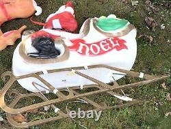 Vintage Empire Santa Sleigh & 1 Reindeer Blowmold