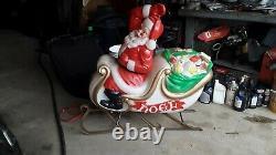 Vintage Empire Santa Sleigh AND 2 Reindeers Blow mold