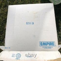 Vintage Empire Santa Sleigh, Reindeer Blow Mold Large Size, Original Box
