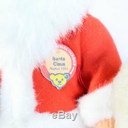 Vintage German Steiff 1953 Replica Santa & Rare Renny Reindeer + Sleigh