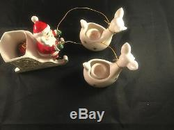 Vintage Holt Howard Santa Sleigh & Reindeer Rare 1959