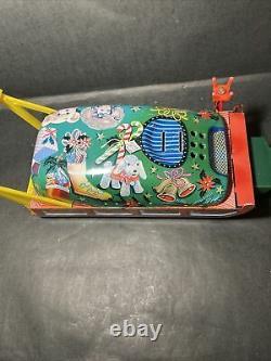 Vintage Mark Santa Claus on Reindeer Sleigh Battery Operated (Needs Repair)