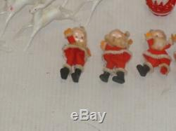 Vintage Rosbro Clown Snowman Santa Sleigh Reindeer Candy Container Plus Others