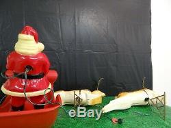 Vintage Santa, Sleigh And Reindeer