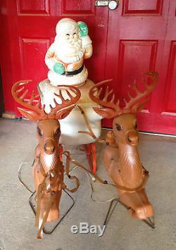Santa Sleigh Reindeer Mold