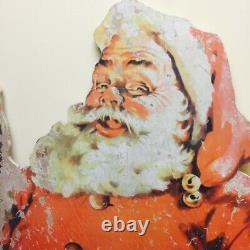 Vintage Santa/Sleigh and Reindeer Lifelike Size