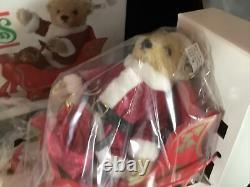 Vintage Steiff Friends of Christmas Bear Santa Sleigh Reindeer Made West Germany