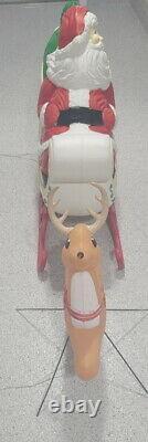 Vintage Xmas Christmas Grand Venture Reindeer And The Santa Sleigh