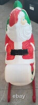 Vintage Xmas Christmas Grand Venture Reindeer & The Santa Sleigh