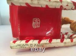 Vtg Lefton Shopper Girl In Santa Sleigh 2 Reindeer Label 1957 MCM 80136 Stamped