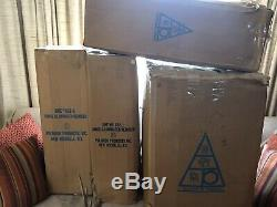 Vtg Rare Poloron Santa Sleigh Reindeer Blow Mold Christmas Yard Decor Light Box