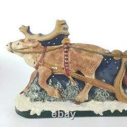 Walnut Ridge Christmas Santa St Nicks Visit Sleigh Reindeer Old World Vintage